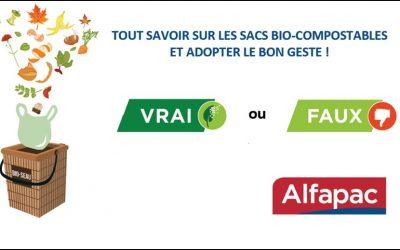 Des idées reçues sur les sacs compostables ? Faites le test avec le vrai/ faux ALFAPAC